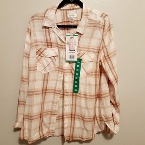 NWT Jessica Simpson button  down shirt sz.XL